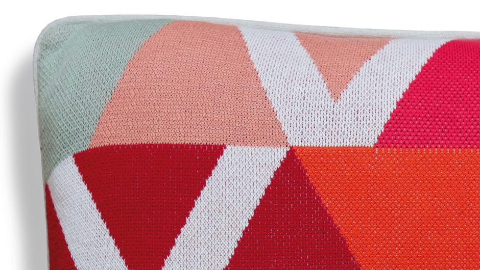 100/% Baumwolle Toggle REMEMBER Strickkissen Häkelkissen 50x50 cm mit Füllung