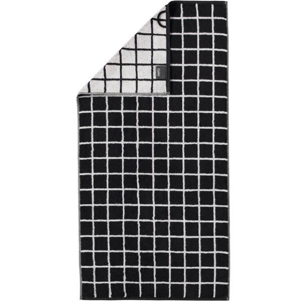 Handtuch schwarz 50x100 Zoom Karo 97 Cawö