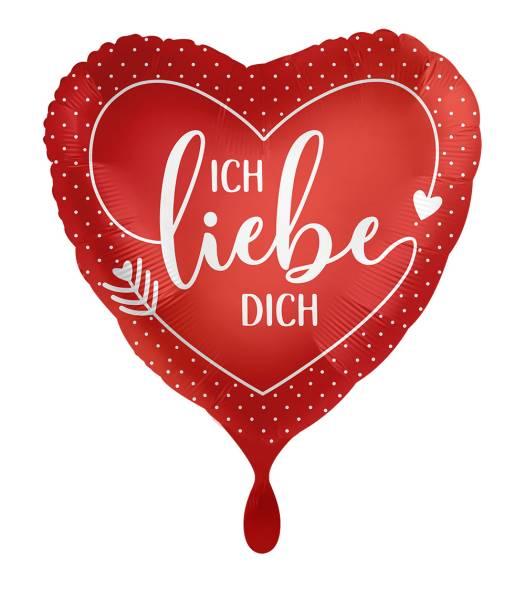 Herz Ich Liebe Dich Rot Folienballon Luftballon