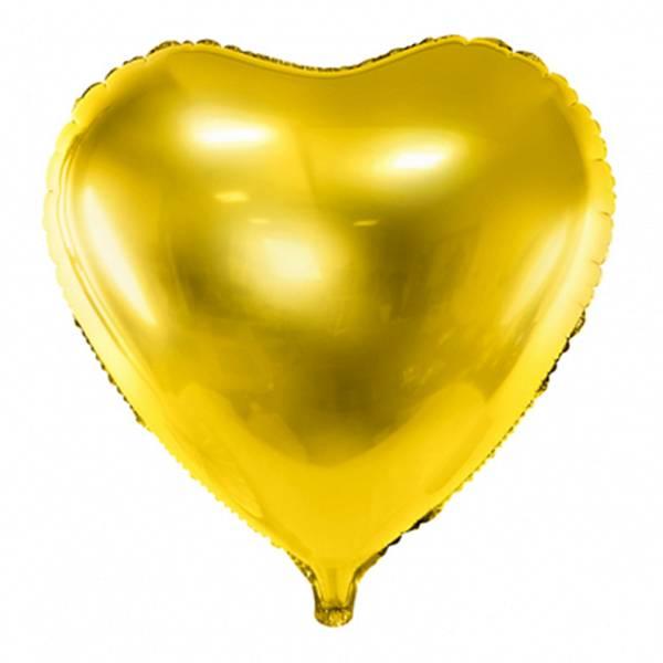 XL Herz gold D61 cm Luftballon