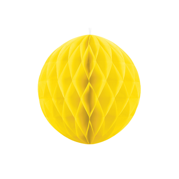 Wabenball XL gelb 20cm Partydeko
