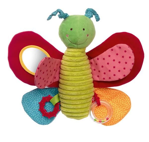 Stofftier Schmetterling Spielzeug Beißring Rasselring sigikid