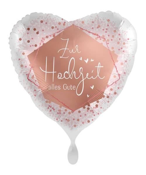 XL Herz Hochzeit Alles Gute Folienballon Luftballon