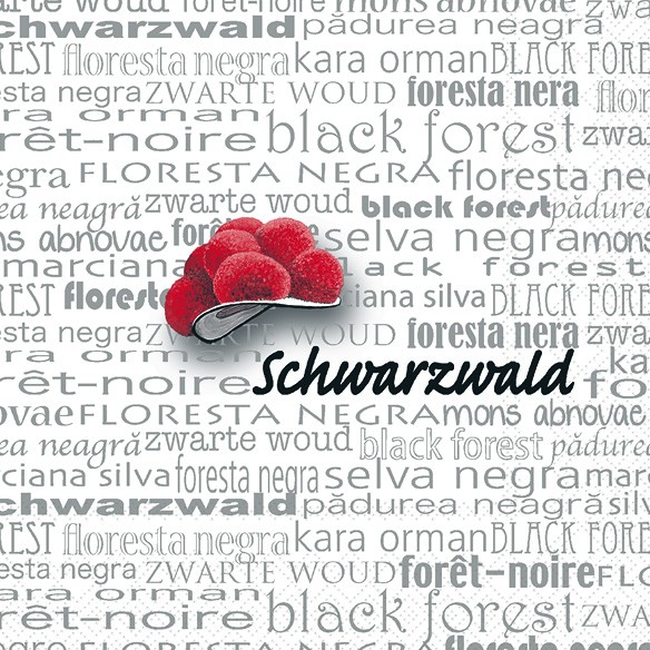 Servietten Motiv Schwarzwald 33x33cm Sweet Pac