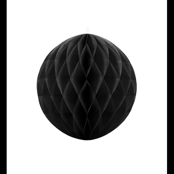 Wabenball XL schwarz 20cm Partydeko
