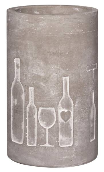 Weinkühler Beton Flaschen Räder Design