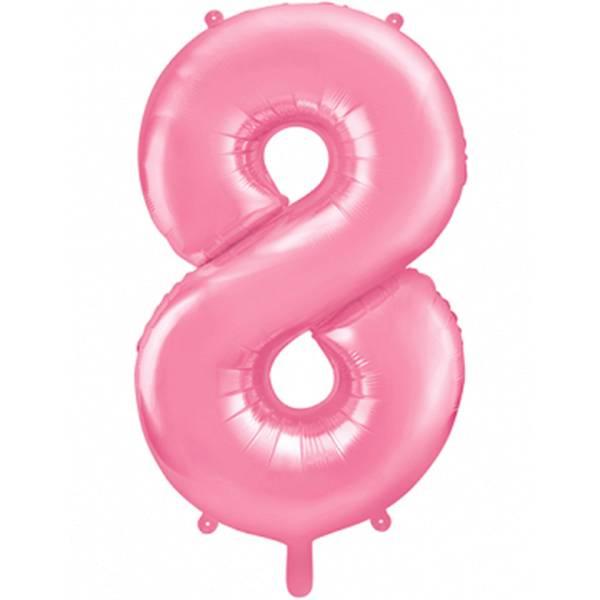 XXL Zahl 8 Pink Folienballon Luftballon