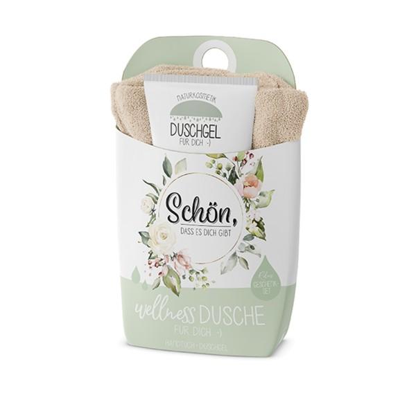 Schön Wellnessdusche Duschgel + Handtuch Naturkosmetik LaVida