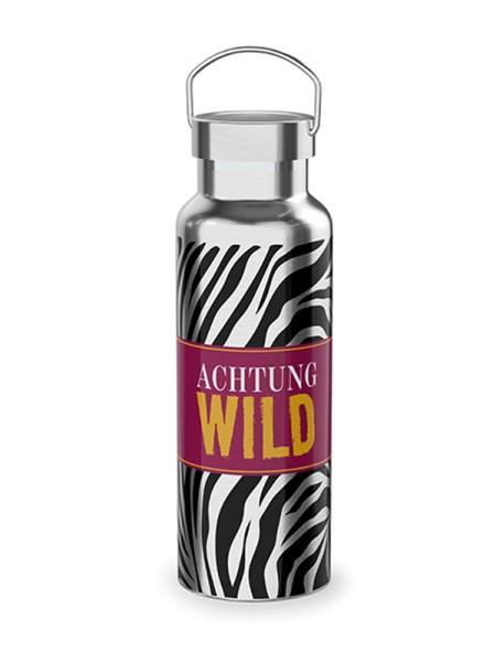 Thermoflasche 0,5l Achtung Wild Zebra Life Edelstahl LaVida