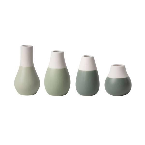 Pastellvasen mini Grün Set Räder Design
