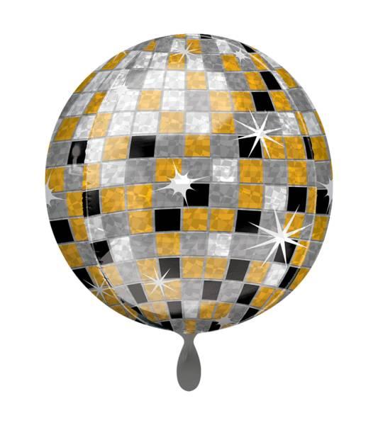 Discokugel Gold Kugel Luftballon