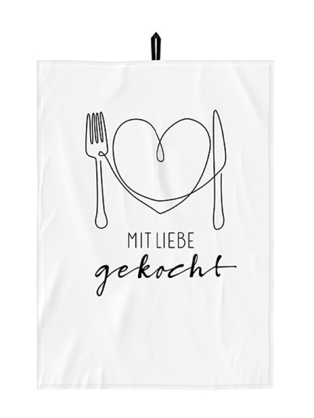 Geschirrtuch Mit Liebe gekocht 70x50 Baumwolle LaVida