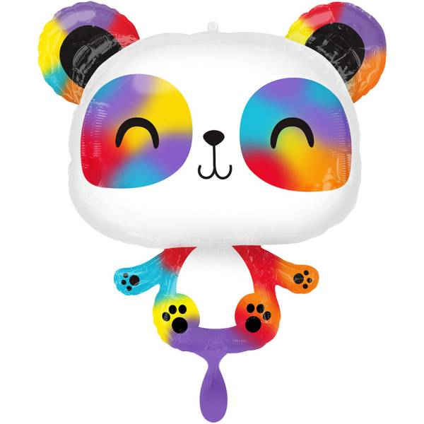 Panda Regenbogen Folienballon Luftballon