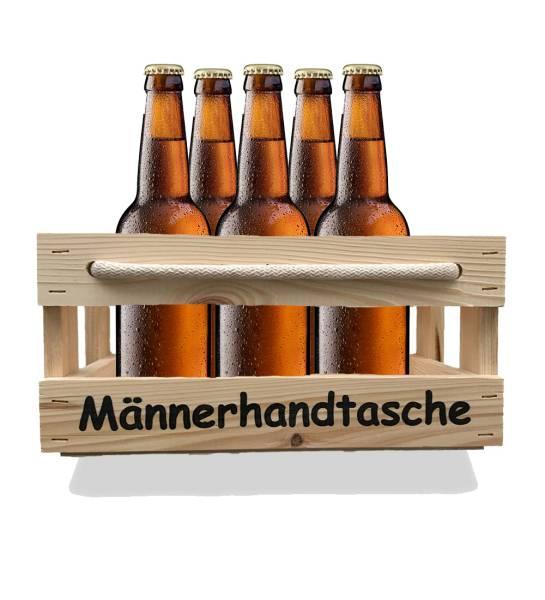 Bierkorb Holz Kiste Männerhandtasche