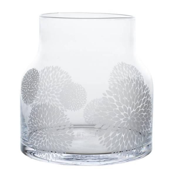 Glasvase Mut ist der Zauber Ø18 cm Räder Design