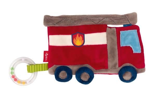 Schmusetuch Feuerwehr Auto Rasselring Sigikid