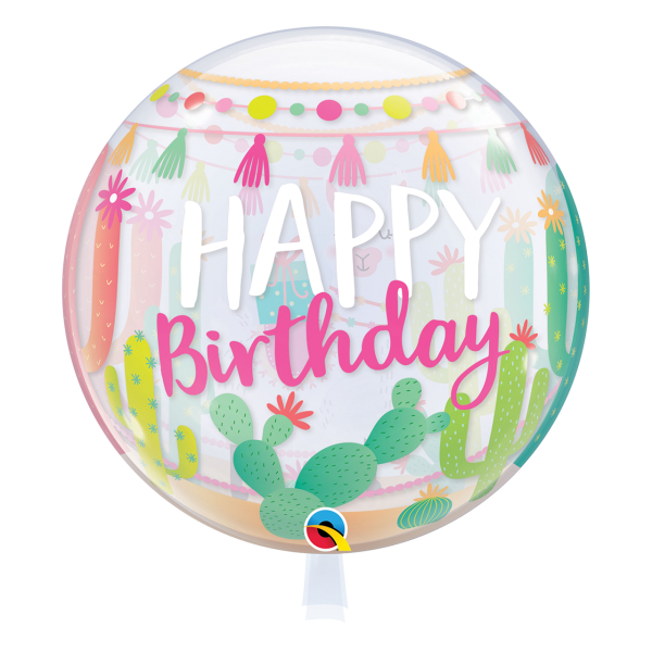 Bubble Ballon Lama Happy Birthday Luftballon