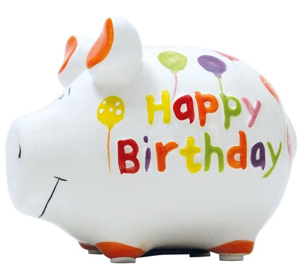 Sparschwein Happy Birthday KCG