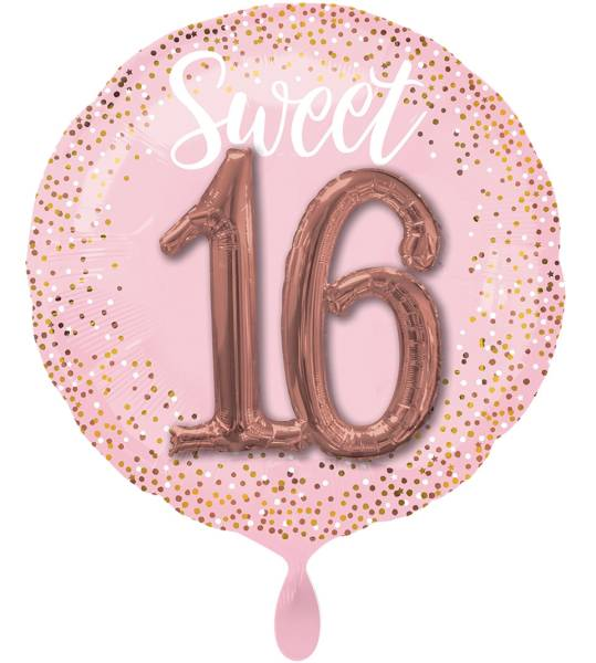 XXL Folienballon 16.Geburtstag rosa Luftballon