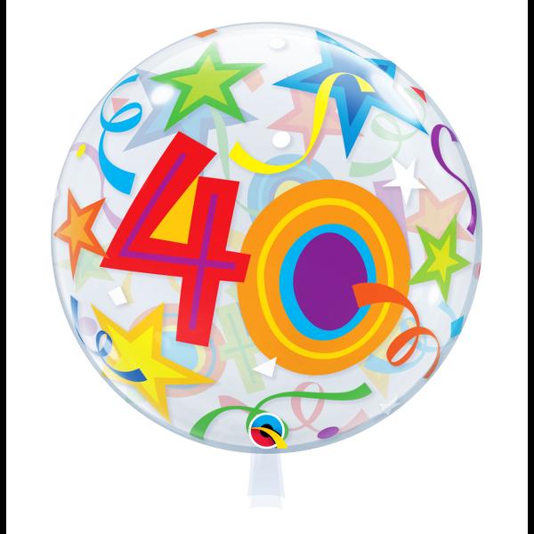 Bubble Ballon Zahl 40 Geburtstag Luftballon
