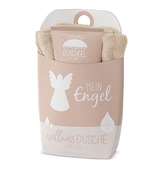 Wellnessdusche Mein Engel Duschgel + Handtuch Naturkosmetik LaVida