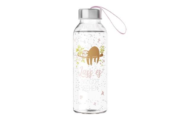 Zeit für Dich Trinkflasche Glas Tierische Motive 0,4l LaVida