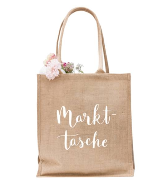 Hochwertige Jute Tasche für den Einkauf