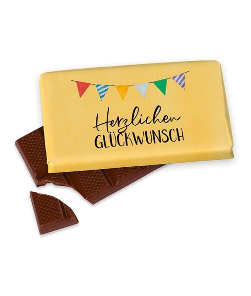 Herzlichen Glückwunsch Schokolade 40gr. Geburtstag