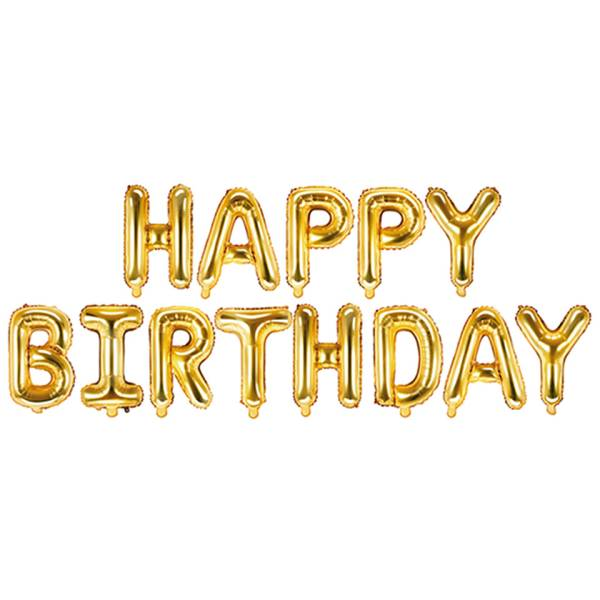 Girlande Happy Birthday Gold Buchstaben Luftballon