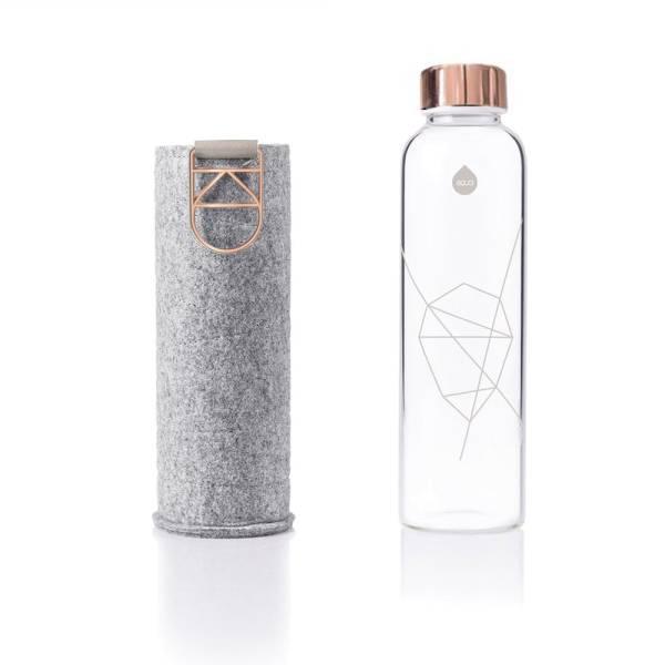 EQUA Design Trinkflasche Mismatch Rosegold Filzhülle