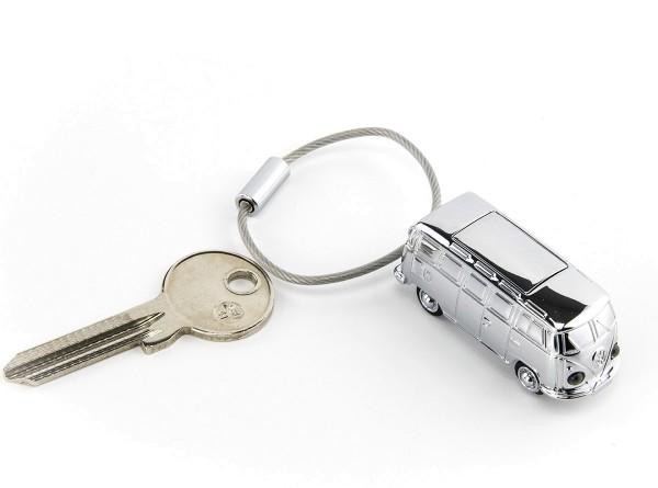 Hochwertiger Schlüsselanhänger VW Bulli + Taschenlampe