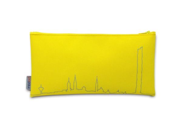 Stiftemäppchen gelb Rottweil Silhoutte