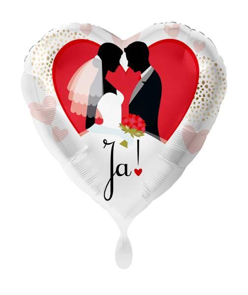 Herz Hochzeit JA Wort Folienballon Luftballon