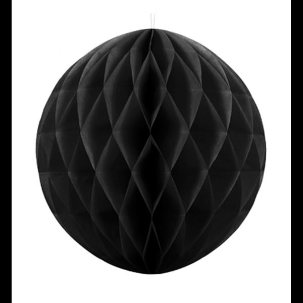Wabenball XXL schwarz 30cm Partydeko