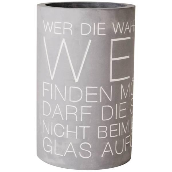 Weinkühler Beton Wahrheit im Wein Räder Design