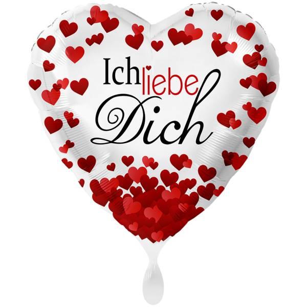 XL Herz Ich Liebe Dich Folienballon Luftballon
