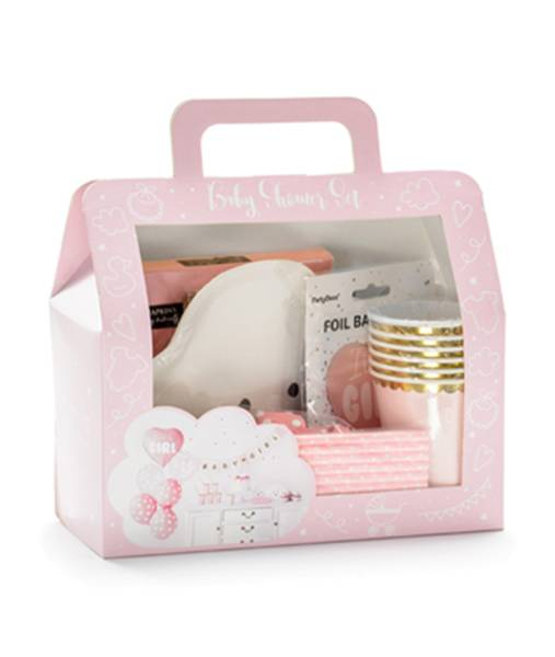 Dekoration Set rosa Girl Mädchen Baby Party Box