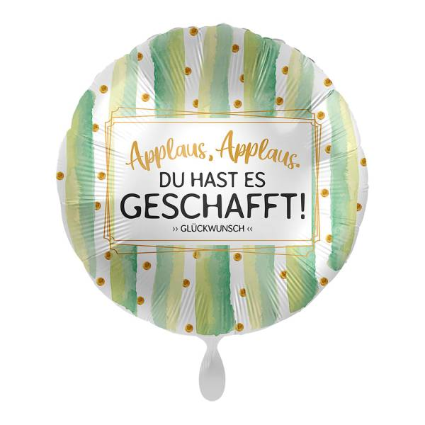 Applaus Geschafft Glückwunsch 43cm Luftballon