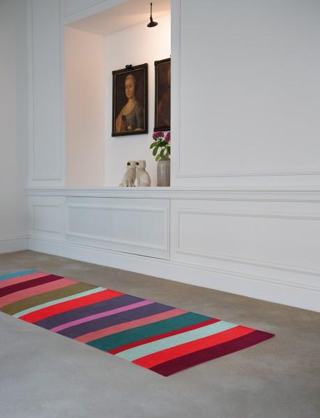Teppichläufer Malve lila/rot 250 x 80 cm REMEMBER