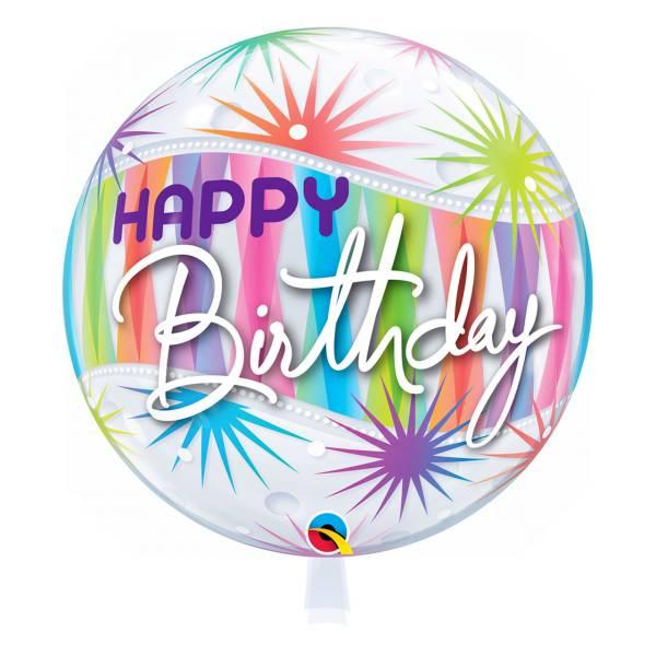 Bubble Ballon HAPPY BIRTHDAY Luftballon