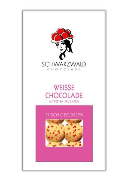 Weiße Schokolade Rote Früchte 60g Schwarzwald Chocolade