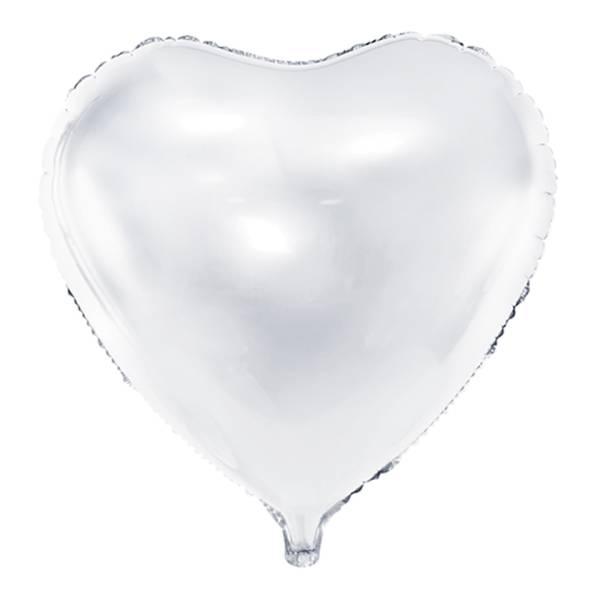 XL Herz weiss D61 cm Luftballon