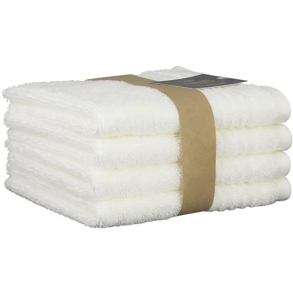 Mini Handtuch 4er Set weiß 30x30 Cawö
