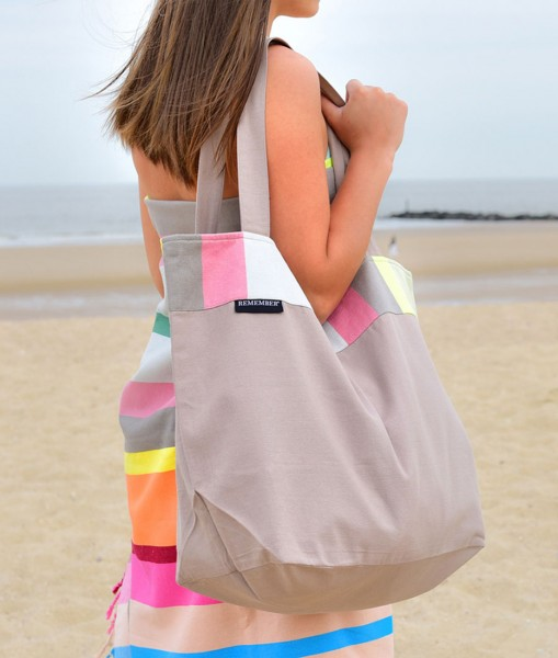 Marina Beach Bag Strandtasche Baumwolle REMEMBER