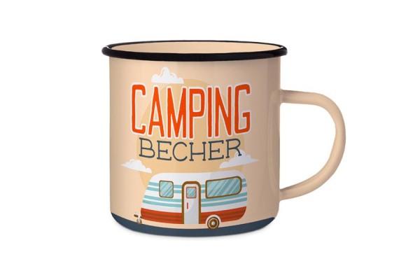 Emaille Camping Becher Geschenk für Camper