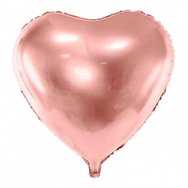 XL Herz rosegold D61 cm Luftballon