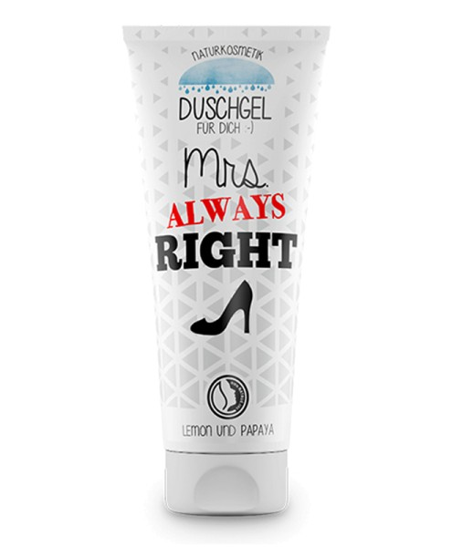 Frauenduschgel Mrs Always Right Geschenk Naturkosmetik La Vida