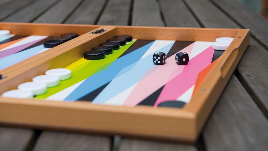 Brettspiel Backgammon