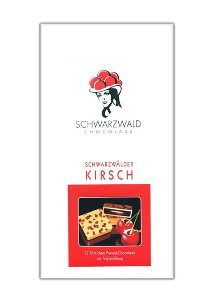 Schwarzwälder Kirsch Trüffelfüllung 100g Praline Schwarzwald Chocolade