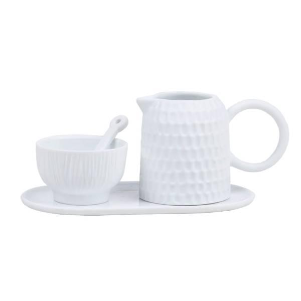 Milch & Zucker 4-teilig Set Genussgemeinschaft Weiß Räder Design